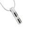 Cylinder Gemstone Accent Cremation Jewelry