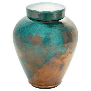 Timeless Turquoise Raku Urn